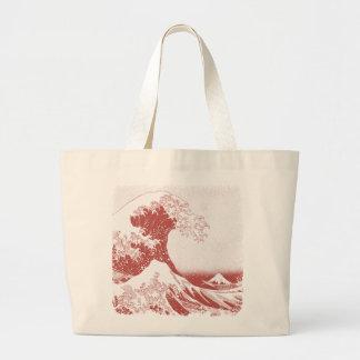 The Great Wave off Kanagawa (神奈川沖浪裏) Jumbo Tote Bag