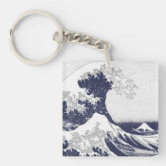 The Great Wave off Kanagawa (神奈川沖浪裏) Double-Sided Square Acrylic Key Ring