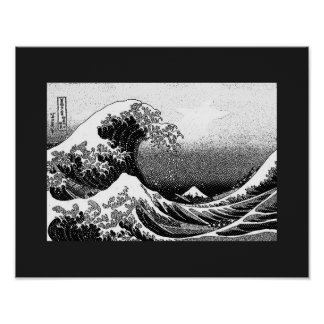The Great Wave off Kanagawa (神奈川沖浪裏) Poster