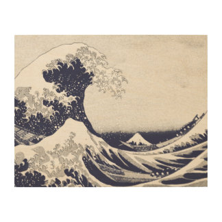 The Great Wave off Kanagawa (神奈川沖浪裏) Wood Canvases