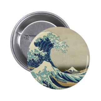 The Great Wave off Kanagawa 6 Cm Round Badge
