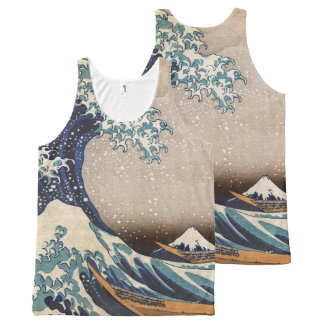 The Great Wave off Kanagawa All-Over Print Singlet