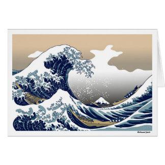 """The Great Wave off Kanagawa"" by Hokusai Greeting Card"