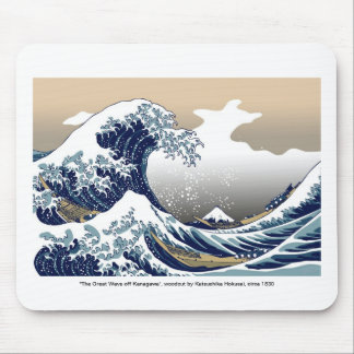 """The Great Wave off Kanagawa"" by Hokusai Mouse Pad"