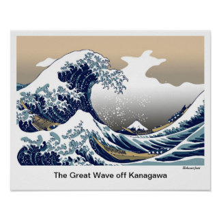 """The Great Wave off Kanagawa"" by Hokusai Poster"