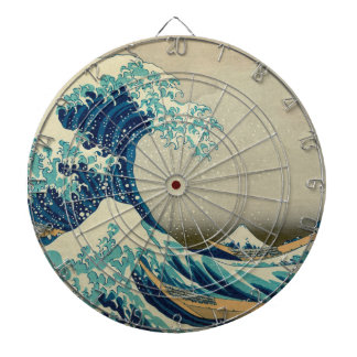 The Great Wave off Kanagawa Dartboard