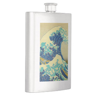 """the great wave off kanagawa"" flask"