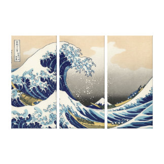 The Great Wave off Kanagawa, Hokusai Canvas Print