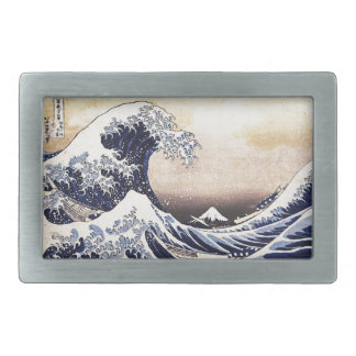 The Great Wave Off Kanagawa Hokusai Japanese Art Belt Buckle