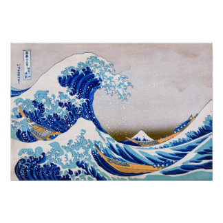 The Great Wave off Kanagawa, Hokusai Poster