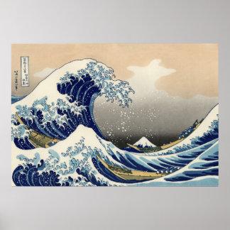 The Great Wave off Kanagawa, Hokusai Print