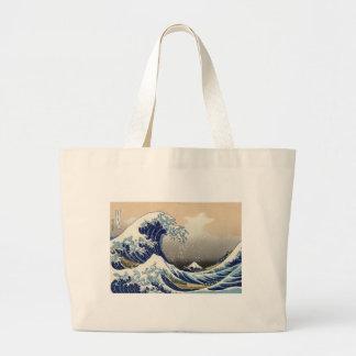 The Great Wave off Kanagawa Jumbo Tote Bag