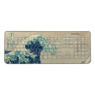 The Great Wave off Kanagawa Kanagawa-oki nami ura Wireless Keyboard