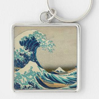 The Great Wave off Kanagawa Keychain