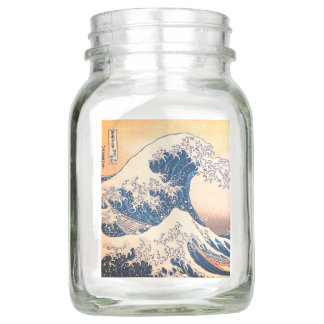 The Great Wave Off Kanagawa Mason Jar