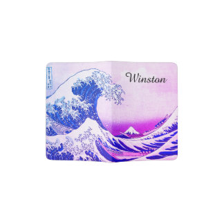 The Great Wave Off Kanagawa Passport Holder