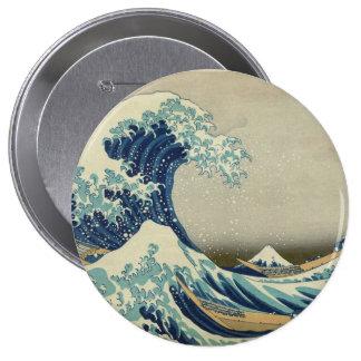 The Great Wave off Kanagawa Pinback Buttons