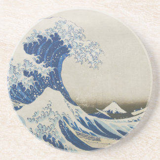 The Great Wave off Kanagawa Sandstone Coaster