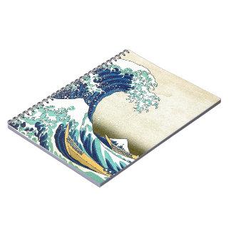 """The Great Wave Off Kanagawa"" Spiral Notebooks"