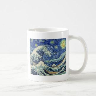 The Great Wave Off Kanagawa - The Starry Night Coffee Mug