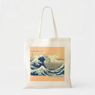 The Great Wave Off Kanagawa Tote Bags