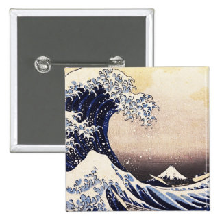 The Great Wave Off Kanagawa Vintage Japanese Art Buttons