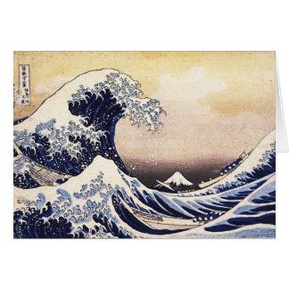 The Great Wave Off Kanagawa Vintage Japanese Art Greeting Card