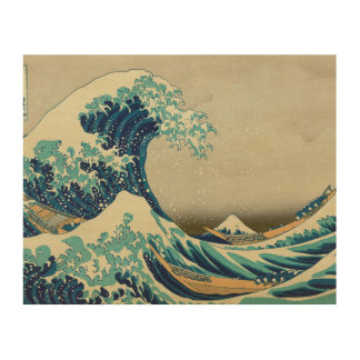 The Great Wave off Kanagawa Wood Canvases