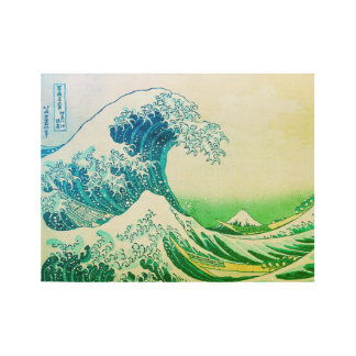 The Great Wave Off Kanagawa Wood Poster