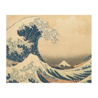 """The Great Wave Off Kanagawa"" Wood Prints"