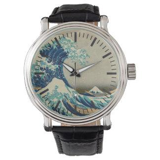 The Great Wave off Kanagawa Wristwatch
