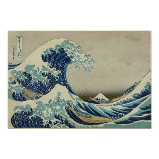 The Great Wave Original High Resolution Art Print
