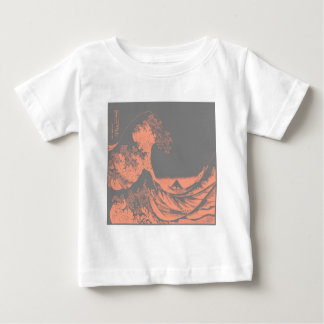 The Great Wave Peach & Gray Baby T-Shirt