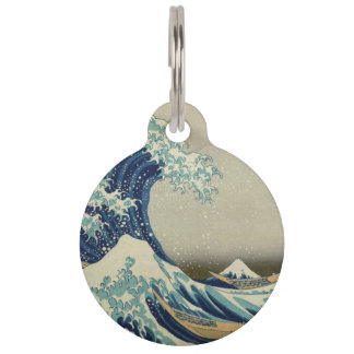 The Great Wave Pet ID Tag