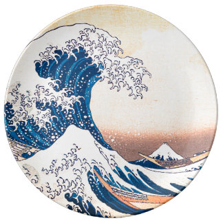 The Great Wave Porcelain Plates