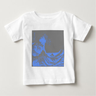 The Great Wave Seafoam Blue & Gray Baby T-Shirt
