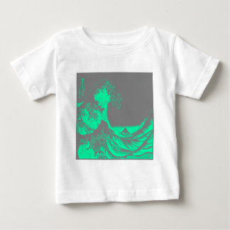 The Great Wave Seafoam Green & Gray Baby T-Shirt
