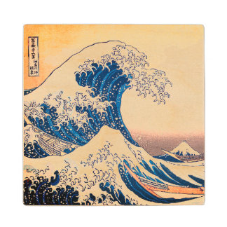 The Great Wave Wood Coaster