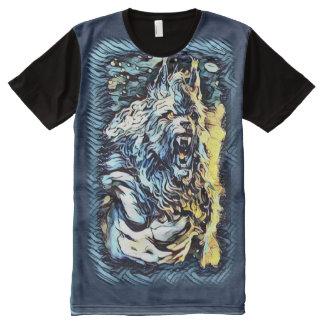 The Great Werewolf God Dark Horror Art All-Over Print T-Shirt