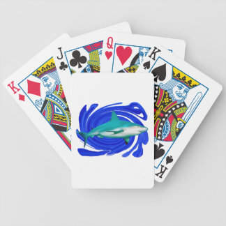The Great White Bicycle Playing Cards