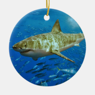 The Great White Shark Carcharodon Carcharias Ceramic Ornament