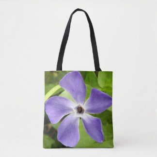 The Greater Periwinkle All Over Print Tote Bag