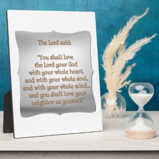 The Greatest Commandment Plaque