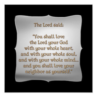 The Greatest Commandment Poster