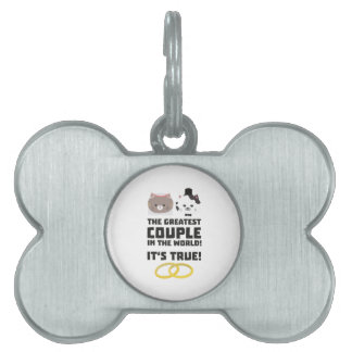The greatest Couple in the World Z76su Pet Name Tag