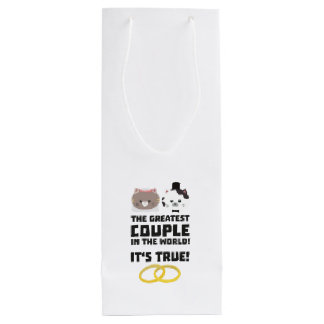 The greatest Couple in the World Z76su Wine Gift Bag
