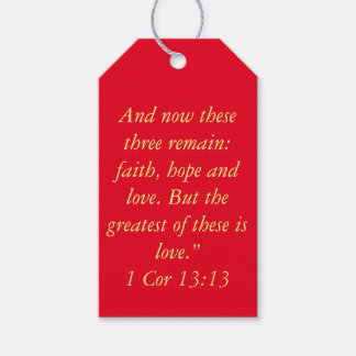 """The Greatest is Love"" Scripture Gift Tag"