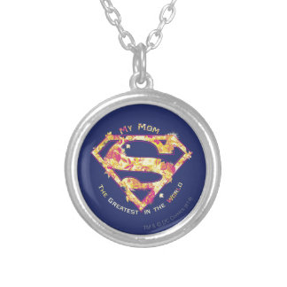 The Greatest Mom in the World Round Pendant Necklace