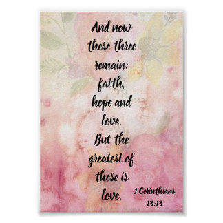 The Greatest of These is Love Christian Poster