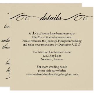 The Greatest of These is Love Wedding Details Card